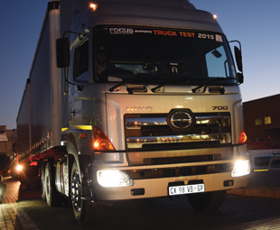 Hino's 700 2848, one of two vehicles the company entered in this year's Truck Test.
