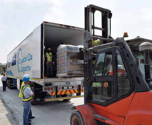 Around 500 t of cement was insured for Truck Test 2015.