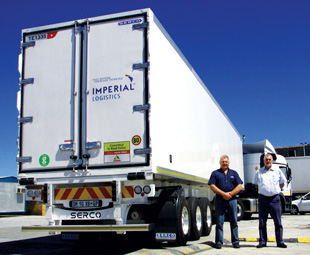 Above: Serco and Imperial Logistics Refrigerated Services are continuing their 15-year relationship.