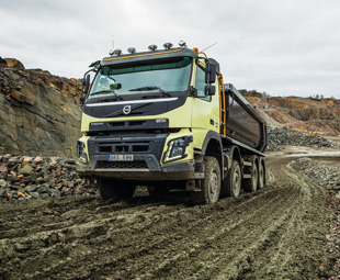 Typical operating conditions where Volvo's 'Automatic Traction Control' comes into its own.