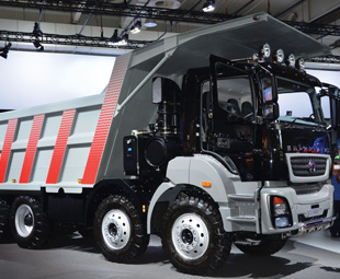 The new BharatBenz 3143, at 320 kW, is claimed to be India's most powerful truck.