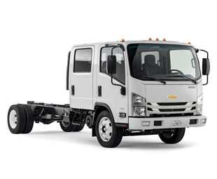 Looks familiar? Chevrolet's new 3500/4500/5500 range for North America shows clear evidence of its Isuzu origins.