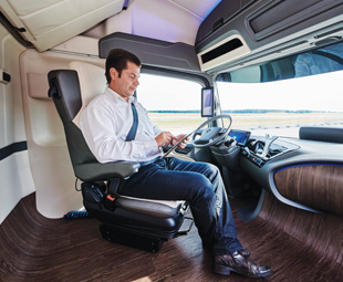 The interior of Future Truck 2025 is unlike anything truckers know.