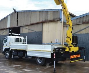 This FTR 850 has had its chassis modified to carry a Hyva crane for a customer.