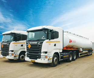 The Namibian bulk fuel transport market is growing by ten percent each month.