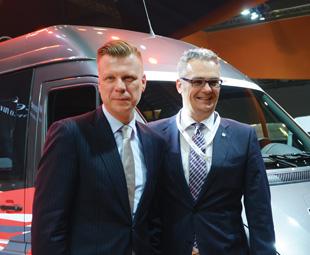 Sören Häse (left, with Rene Mack, director sales and marketing, Mercedes-Benz Vans).