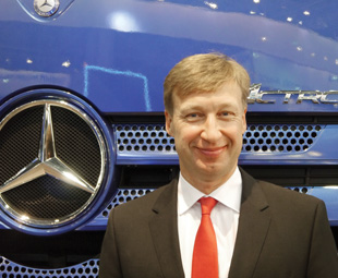 Heiko Schulze is tasked with driving the Mercedes-Benz van and truck businesses in Russia.