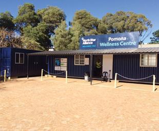"The organisation's iconic ""blue box"" clinics."
