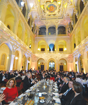 A scene from a 007 movie? No, but the Palais du Commerce was the venue for the 2016 IToY awards ceremony.