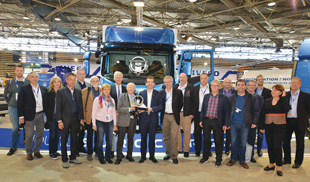 IToY jury members pose with Pierre Lahutte, Iveco brand president.