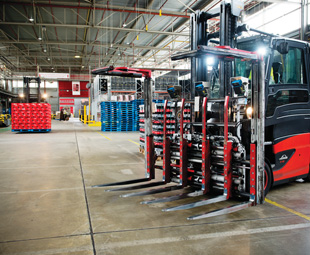 High-tech equipment saves Coca-Cola six minutes of loading time per vehicle.