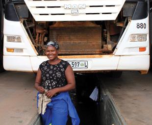 MAN and Girl Power – Lowveld Bus Service technician, Francina Manaka.