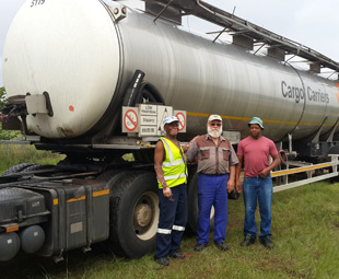 Trucking in drought relief