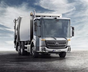 The dual-control Mercedes-Benz Econic cuts a distinctive figure in the Australian refuse sector.