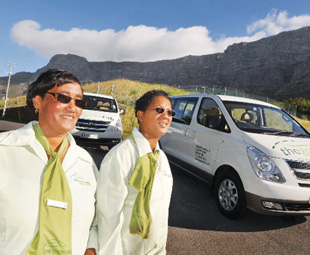 "Women-owned Green Cab promotes ""greener"" forms of transport."