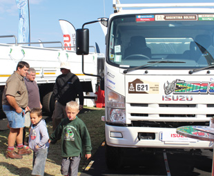Young and old alike were drawn to the ex-Dakar NPS 300 4x4.