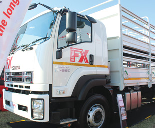 The FXR 17.360 double-deck sheep carrier was sold at the show.