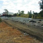 Fifteen people died when a taxi and a truck collided head-on, on the R41 in Randfontein, during April.