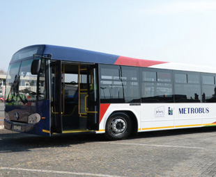 Johannesburg's Metrobus fleet of 70 energy-efficient buses has been in service for around a year.