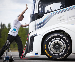 Goodyear and Volvo set some records