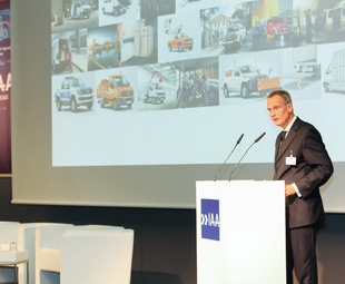 Eckhard Scholz, speaker for the brand board of management at Volkswagen Commercial Vehicles, said that the company's products are being transformed from commercial vehicles that transport cargo to networked workplaces on wheels.