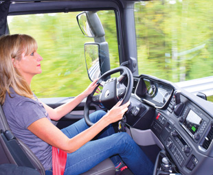 The new Scania is wonderfully comfortable and offers a car-like ride.