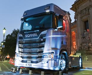 The truck at its Paris debut. Photograph by Ahmet Oguz.