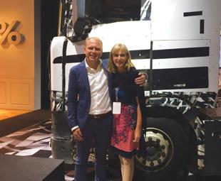 Clarke with Henrik Henriksson, president and CEO of Scania, in Södertälje.