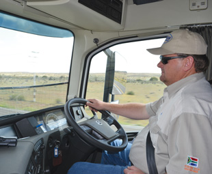 Grain Carriers MD Tom Terblanche began his career behind the wheel, as did most of the company's management.