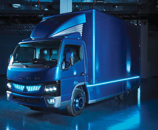 The Fuso eCanter made its world debut at the fair.