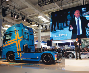 Volvo CEO Claus Nielsen announced that I-Shift was celebrating its 15th birthday. The technology features in 92 percent of Volvo trucks around the world.