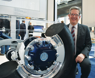 BPW Axles' Andre Cilliers, with AirSave, a cost-effective solution for maintaining tyre