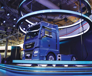 MAN showed an all-new design for its trucks.
