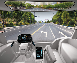 The interior of Iveco's Z Truck.