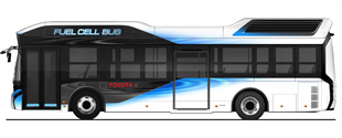 Toyota introduces fuel-cell buses
