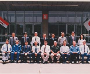 Press visit to Isuzu Motors, Japan, 1985: Front row L to R Messrs. Colin Haynes, Neil Bolton, Takahiko Tsuchida (Isuzu), Tim Norris (GMSA), Alan Trim, Ralph Jarvis, Francois Ebersohn, Frank Beeton (GMSA) and Mick Kileen (GMSA).