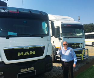 Gert Fourie says MAN TopUsed vehicles provide proud buyers with peace of mind.