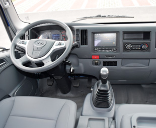 JAC's N Series is very impressive – both inside and out.  JAC sold 242 656 trucks last year.