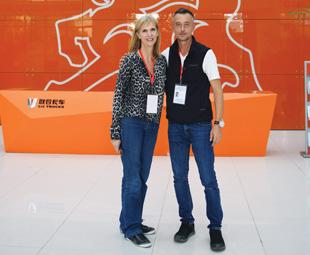 Charleen Clarke and Vassilis Daramouskas at C&C's head office.