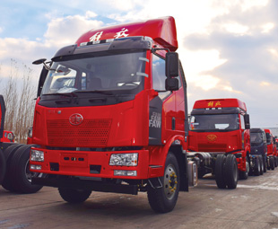FAW sold 299 418 trucks last year. Many of these were red, because the Chinese are so patriotic (and the Chinese flag is red).