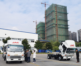 JAC's Hefei factory is surrounded by building sites, which is typical of this growing city. About eight million people live there, which is quite small by Chinese standards.