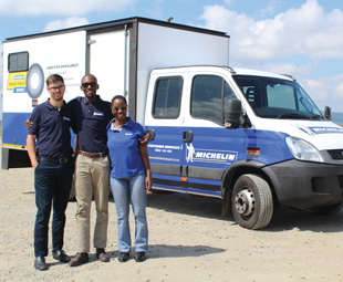 The Michelin support team ready for Truck Test 2017.