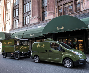 Electric atmosphere at Harrods