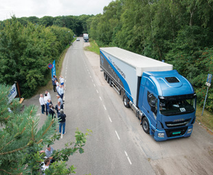 The new Iveco Stralis NP is the first dedicated gas-powered truck for long-distance use.