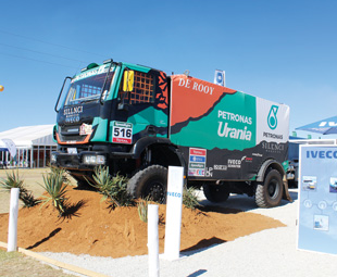 The Dakar-spec Petronas De Rooy Iveco Trakker was a crowd puller.