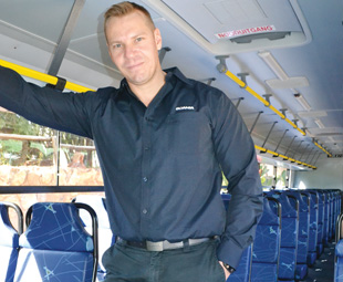 Alan Hugo is driving many exciting developments within Scania SA's bus business.