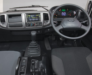 The cab interior is ergonomic and of high quality.