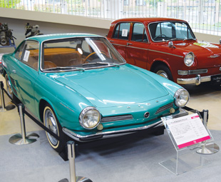 Two glorious Hino Contessa models. (Sadly the green one was a concept car that never saw the light of day.)