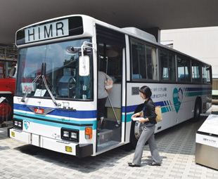 The HIMR bus is the world's first mass-produced hybrid vehicle.