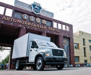 The impressive entrance to GAZ in Nizhny Novgorod.